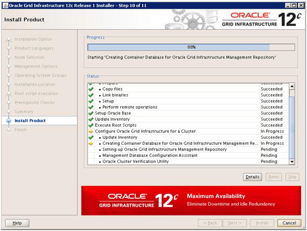 Upgrade of Oracle 11g RAC database to Oracle 12c RAC DBUA