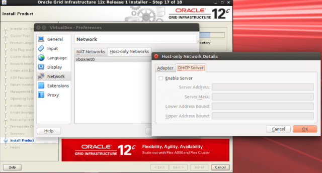 Installation of Oracle 12c RAC Flex cluster infrastructure