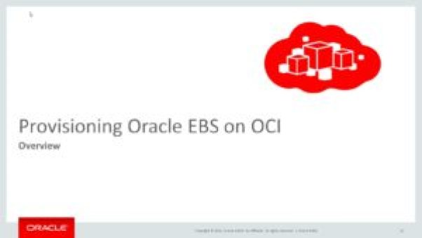 EBS on Oracle Cloud Infrastructure (OCI) [Session-I