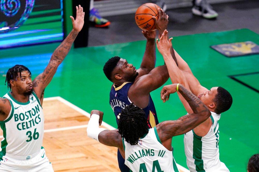 Zion Williamson outduels Jayson Tatum as Celtics fall 115-109 to New  Orleans Pelicans - masslive.com