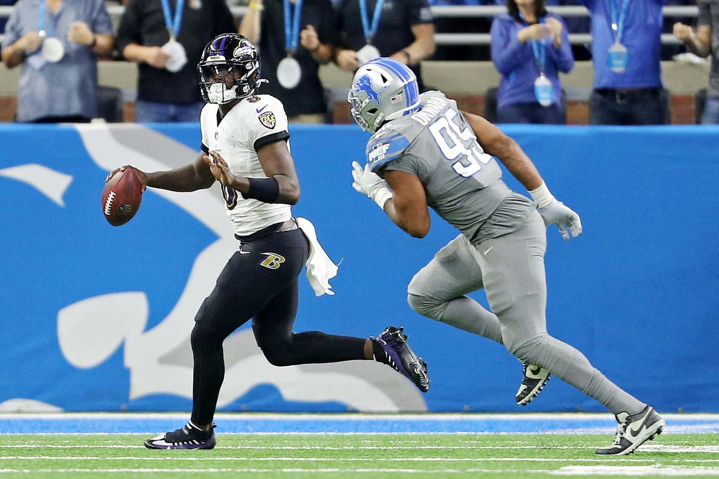 Inside the locker room: Lamar Jackson credits Lions timeout for boost ahead  of crucial fourth-down play - mlive.com