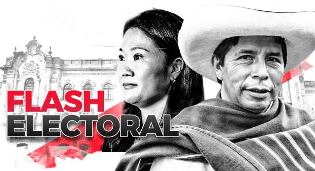 Pedro Castillo en empate técnico con Keiko Fujimori, según Ipsos Perú/ América TV