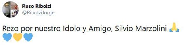 El tuit de Ribolzi sobre el momento que atraviesa Marzolini, quien lo dirigió en el título que ganó el Boca de Maradona en 1981