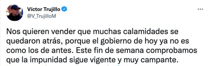 El comunicador aseguró que con las fotografías de Lozoya se comprobó que la impunidad sigue vigente en México (Foto: Twitter@V_TrujilloM)