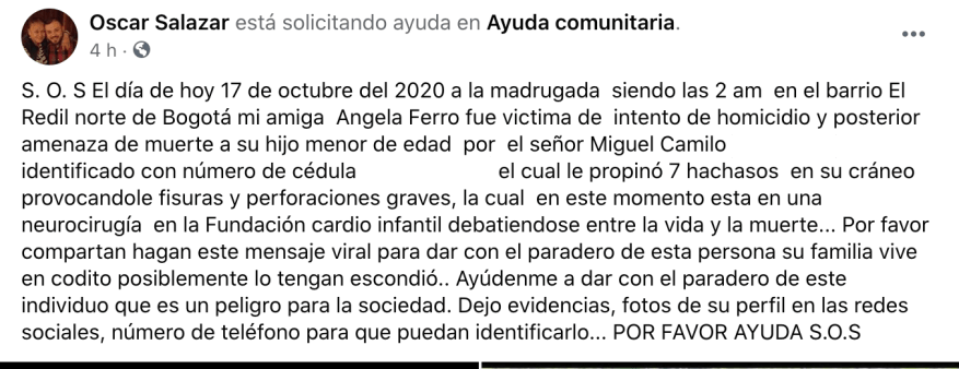 Óscar Salazar / Facebook