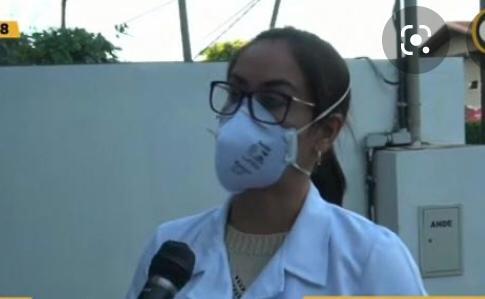 Dra. Idalina Medina, presidenta de la Asociación de Médicos de Alto Paraná. Foto: Gentileza.