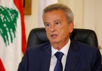 Lebanon's Central Bank Governor Riad Salameh speaks during an interview with Reuters in Beirut, Lebanon August 6, 2018. REUTERS/Mohamed Azakir