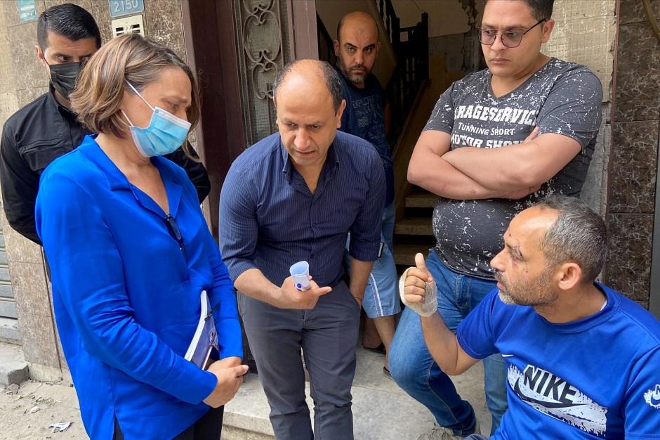 Lynn Hastings, the Head of the humanitarian operations in the Occupied Palestinian Territory, visits Gaza City May 22, 2021. REUTERS/Nidal al-Mughrabi