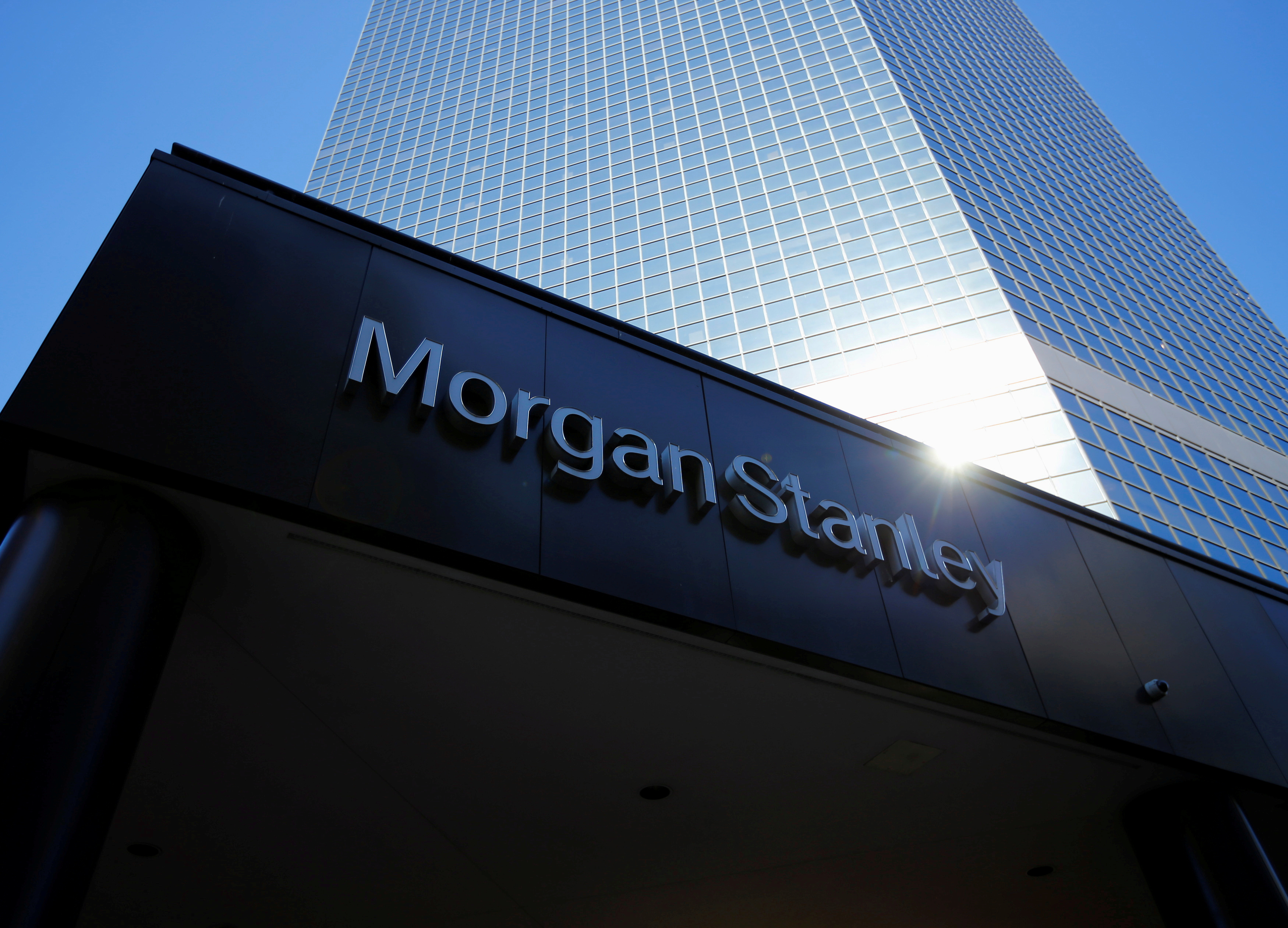 The corporate logo of financial firm Morgan Stanley is pictured on a building in San Diego, California, Sept. 24, 2013. REUTERS/Mike Blake
