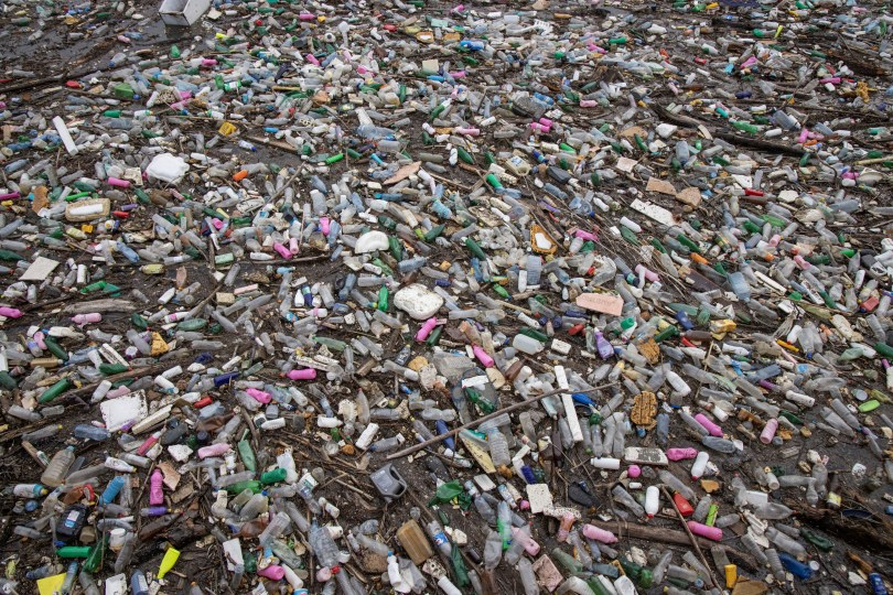 General view of plastic trash littering the polluted Potpecko Lake near a dam's hydroelectric plant near the town of Priboj, Serbia, January 29, 2021. REUTERS/Marko Djurica