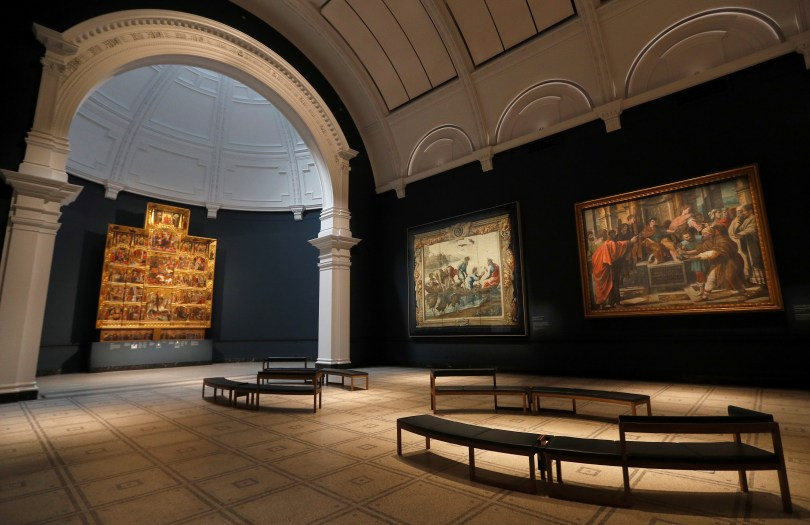 The newly refurbished Rafael Court is seen at the V&A in London, Britain, May 5, 2021. Picture taken May, 5, 2021.  REUTERS/Peter Nicholls