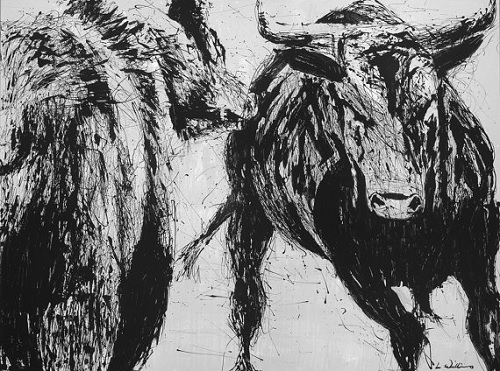 Bear vs. Bull Print by Lance Williams