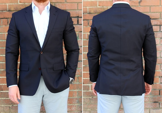In Review: The Lands' End Half Canvas Italian Wool Blazer | Dappered.com