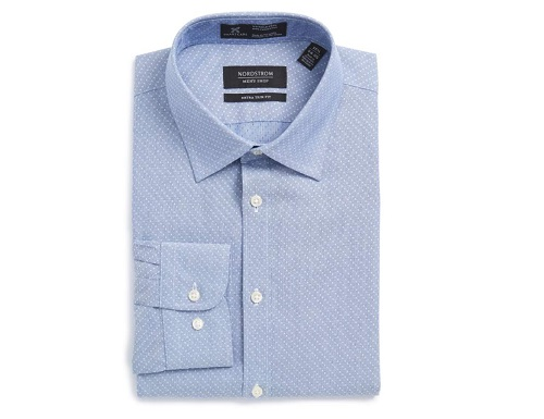 Nordstrom Extra Trim Fit Dobby Dress Shirt