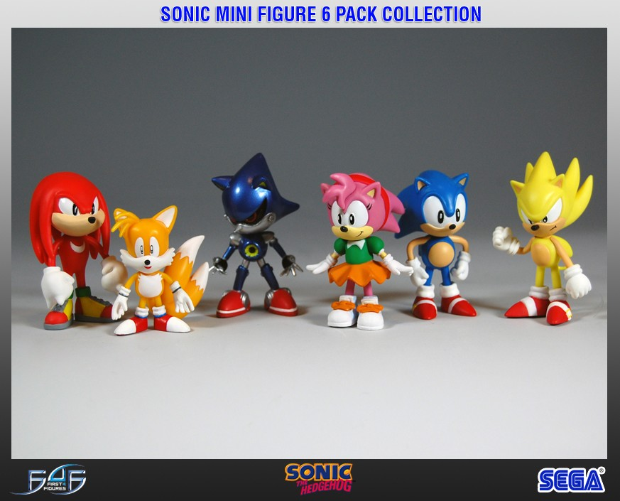 Sonic Mini Figure 6 Pack Collection Legacy