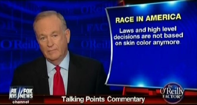 Bill O'Reilly on his show