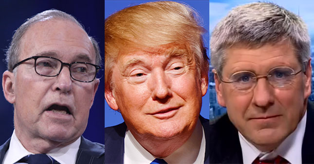 Image result for larry Kudlow with trump team