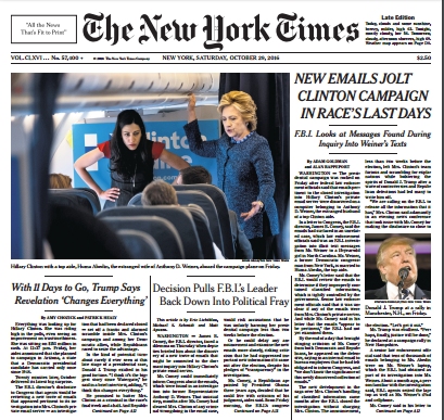 Image result for nytimes cover emails