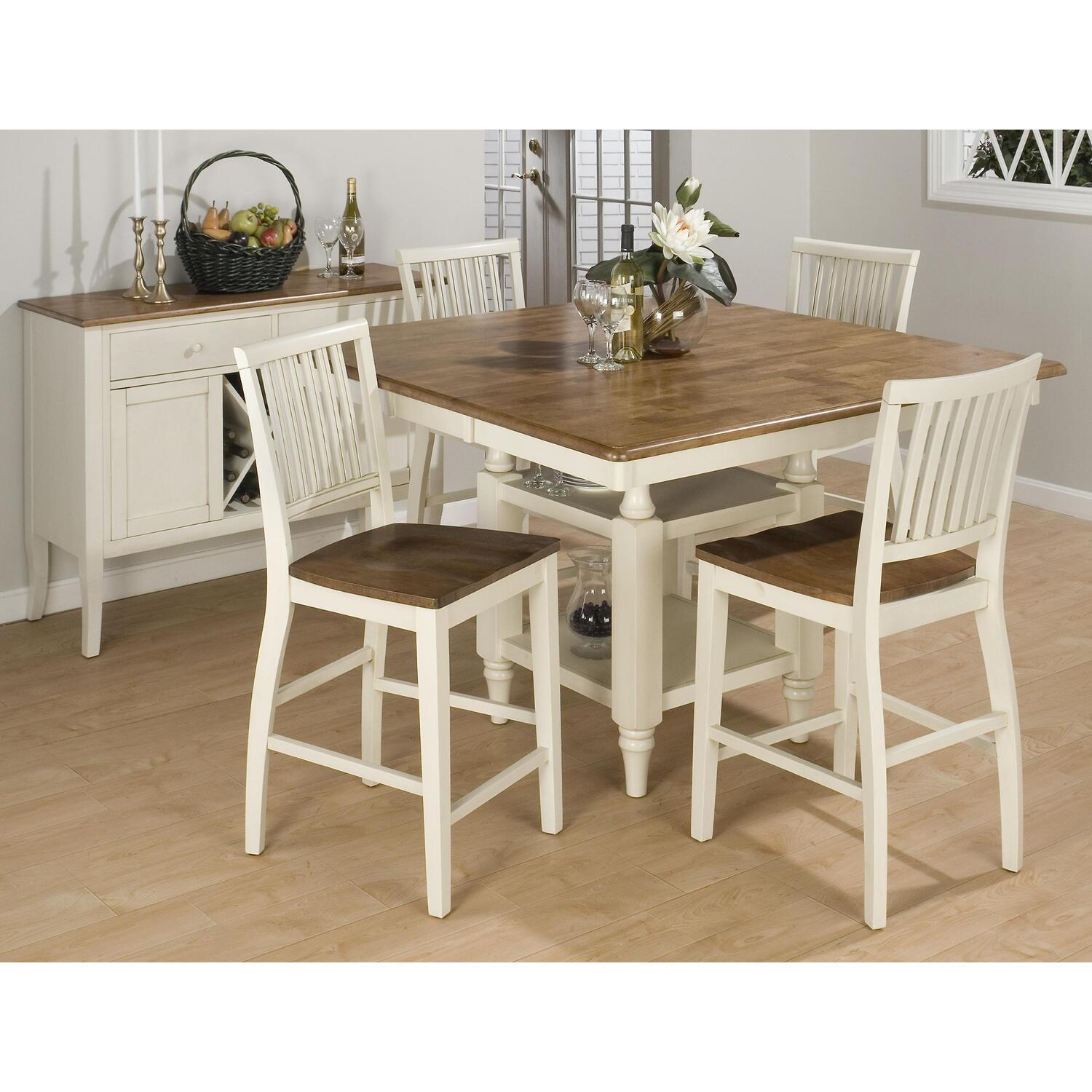 ^ ountry White ounter Height Dining oom able Furniture Set. and ...