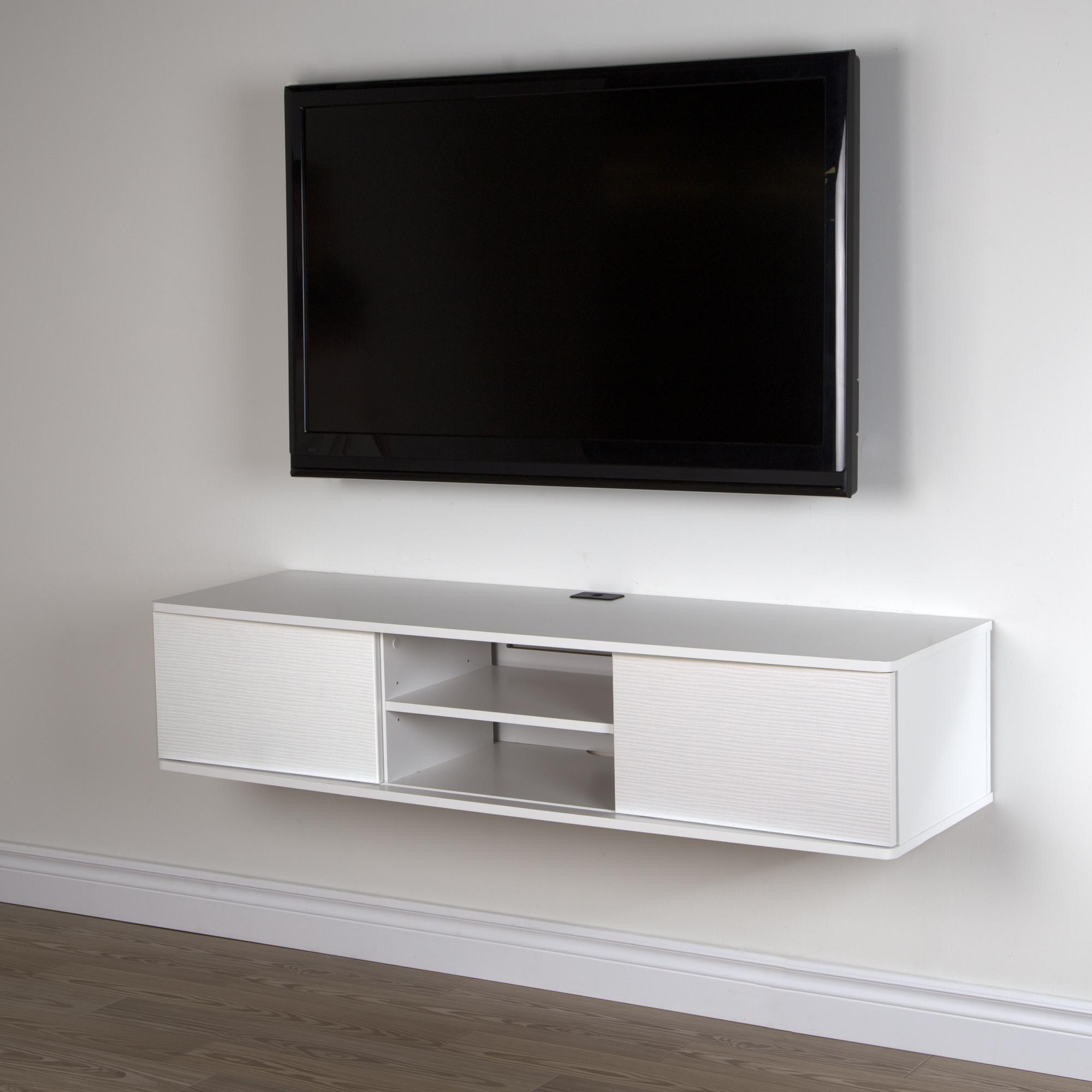 South Shore Agora 56 Wide Wall Mounted Media Console By
