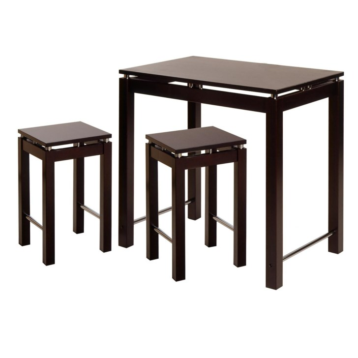 Winsome Linea 3pc Pub Kitchen Set Island Table Stools