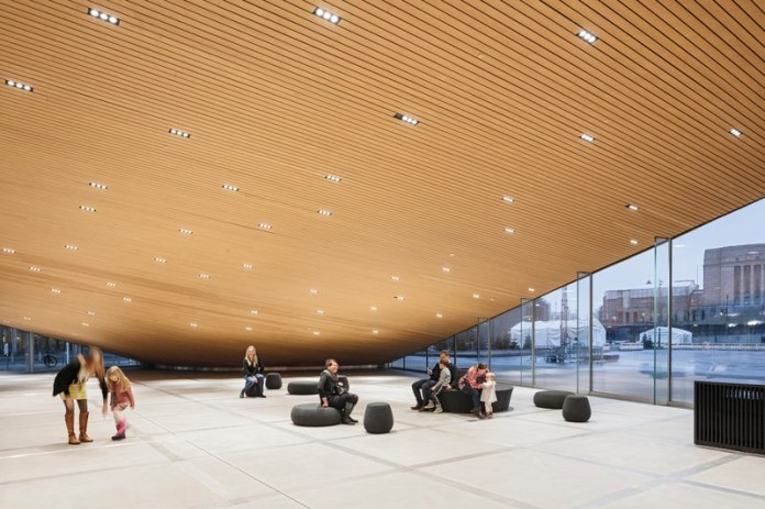 Press kit | 3977-01 - Press release | Helsinki Central Library Oodi - ALA Architects - Institutional Architecture - Ground Floor - South-west Corner - Photo credit: Tuomas Uusheimo
