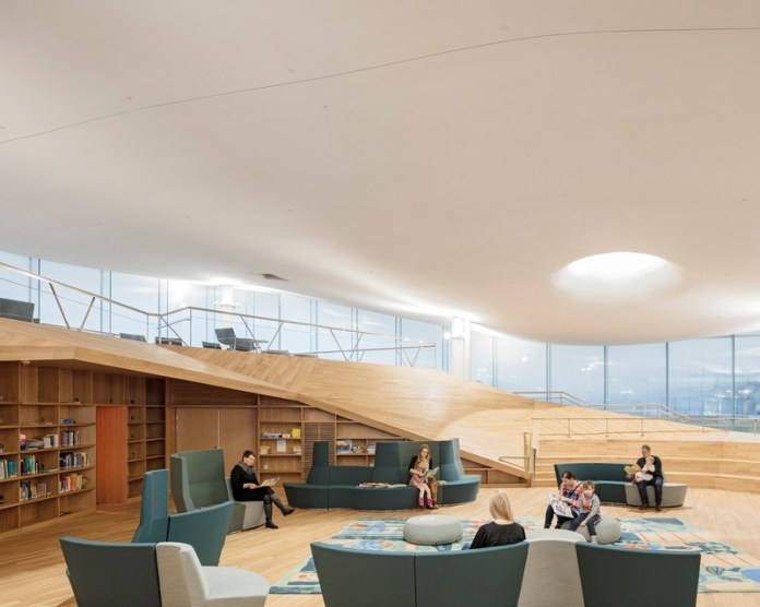 Press kit | 3977-01 - Press release | Helsinki Central Library Oodi - ALA Architects - Institutional Architecture - Top Floor - Children's Library - Photo credit: Tuomas Uusheimo