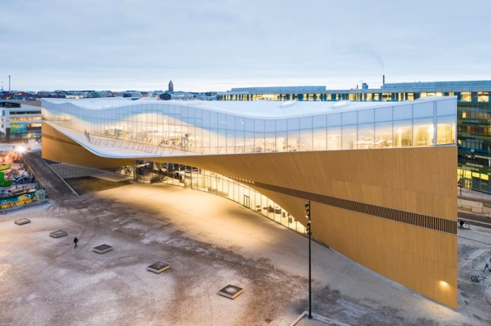 Press kit | 3977-01 - Press release | Helsinki Central Library Oodi - ALA Architects - Institutional Architecture - Aerial View - Photo credit: Tuomas Uusheimo