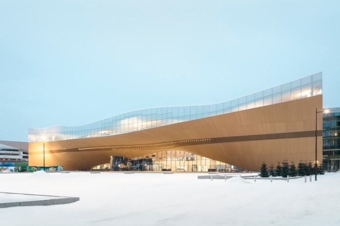 Press kit | 3977-01 - Press release | Helsinki Central Library Oodi - ALA Architects - Institutional Architecture - Exterior View - Photo credit: Tuomas Uusheimo