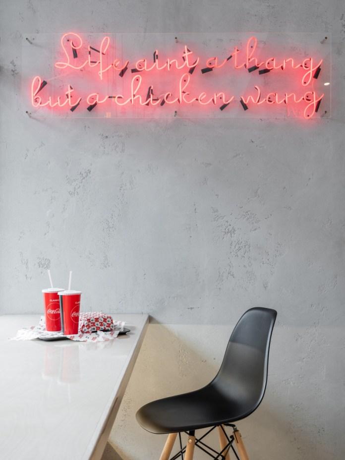 Press kit   3909-02 - Press release   Chicken Mafia - GRETAPROJECT - Commercial Interior Design - Chicken Mafia - Photo credit: Mikhail Loskutov