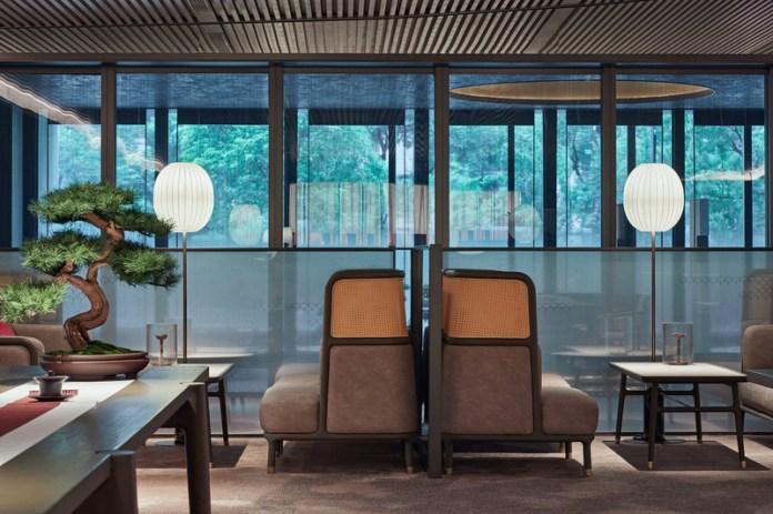 Press kit   3531-02 - Press release   Joya Hotel Hangzhou - Vermilion Zhou - Commercial Interior Design - The lobby also is a tea lounge - Photo credit: Yunpu Cai<span></span>