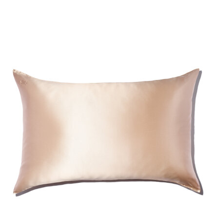 slip silk queen pillowcase caramel