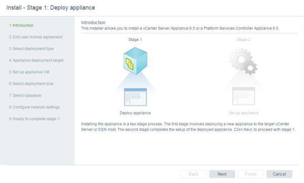Install VCSA 6.5 - VCSA deploy appliance