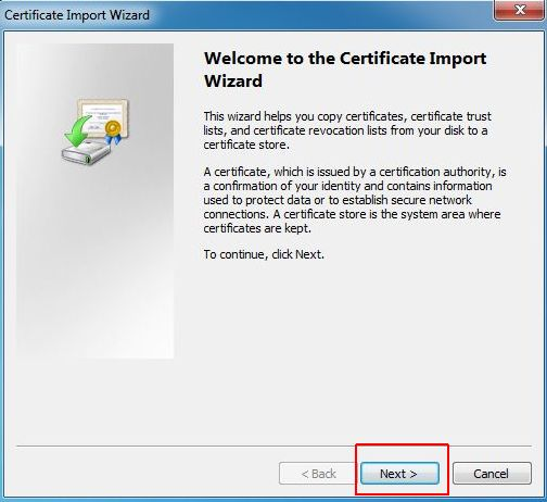 vCenter SSL Certificate - Certificate Import Wizard
