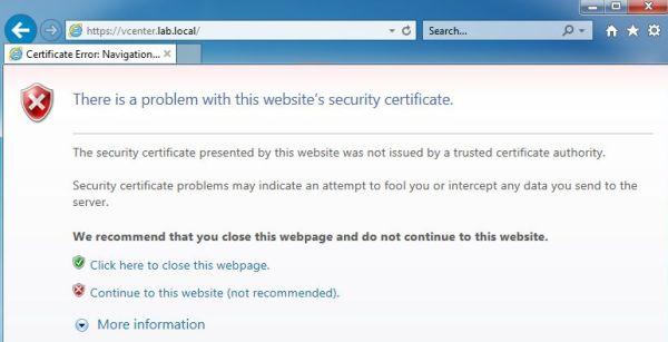 How to Trust vCenter SSL Certificate > CloudHat eu