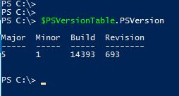 PowerCLI 6.5.4 - PowerShell Version
