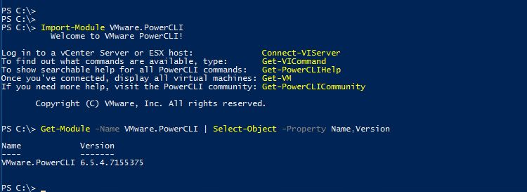 PowerCLI 6.5.4