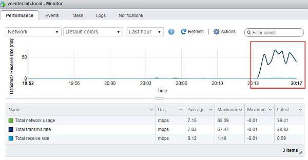 Update vCenter Server Appliance - Network Monitor