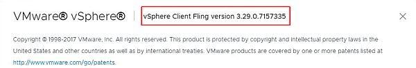 Update vSphere HTML5 Web Client Fling - Verify