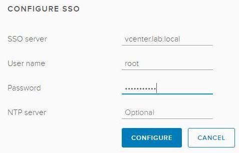 vSphere HTML5 Web Client Fling - Configure SSO