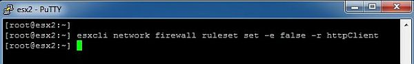 Update ESXi - Disable Firewall Rule