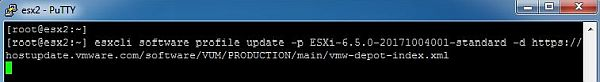 Update ESXi - Start Update
