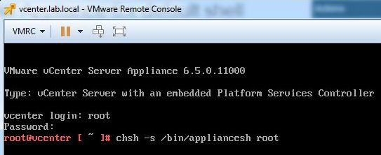 Update vCenter Server Appliance - SSH Connection