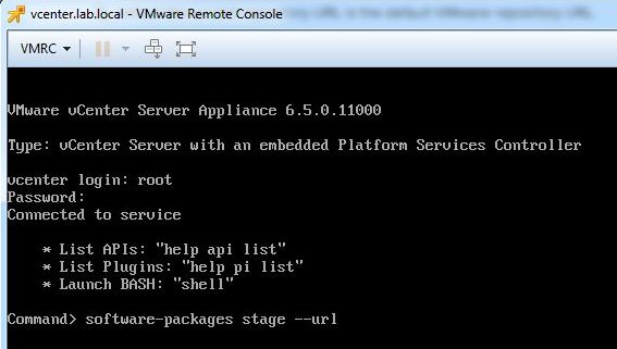 Update vCenter Server Appliance - Staging