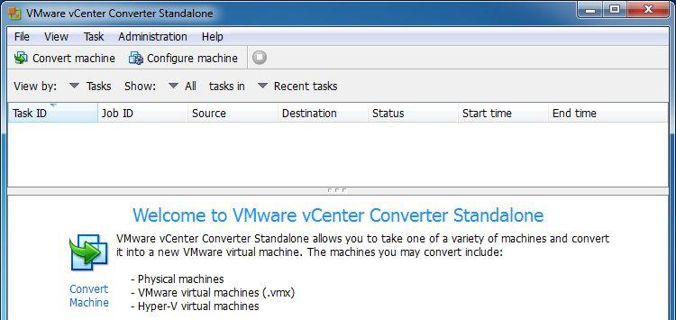 vCenter Converter Standalone 6.2