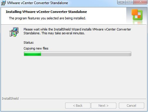 vCenter Converter Standalone - Copying