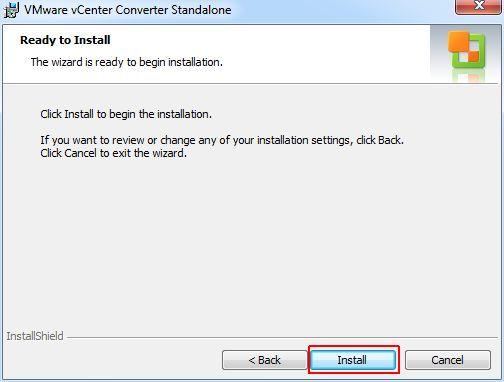 vCenter Converter Standalone - Install