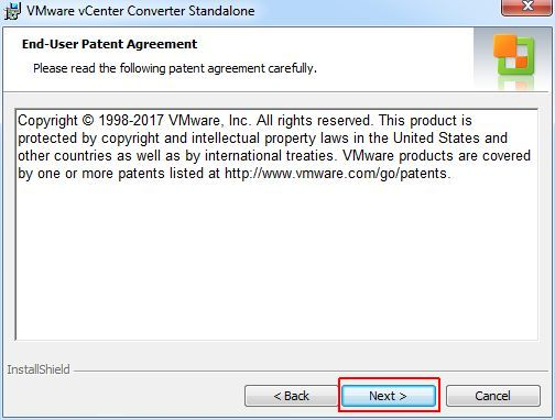 vCenter Converter Standalone - Patent Agreement