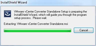 vCenter Converter Standalone - Start