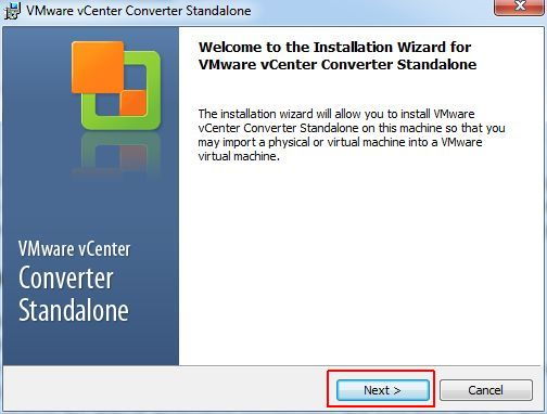 vCenter Converter Standalone - Wizard Start